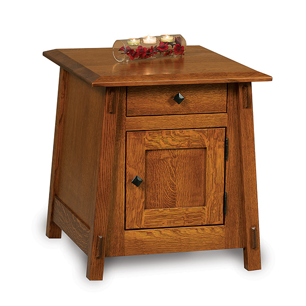 Charmant Colbran Enclosed End Table