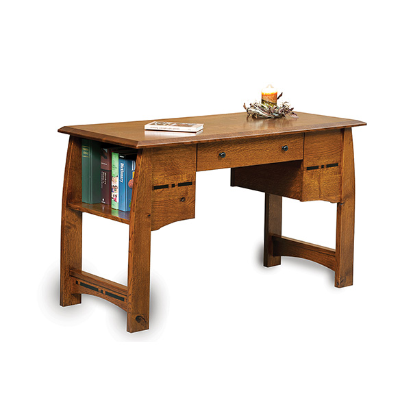 Amish Boulder Creek Library Table | Amish Furniture | Shipshewana Furniture Co.