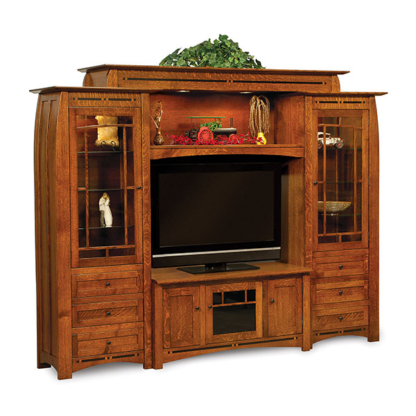 Amish Boulder Creek 6pc Wall Unit | Amish Furniture | Shipshewana Furniture Co.