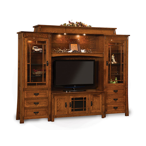 Amish Modesto 6pc Wall Unit | Amish Furniture | Shipshewana Furniture Co.