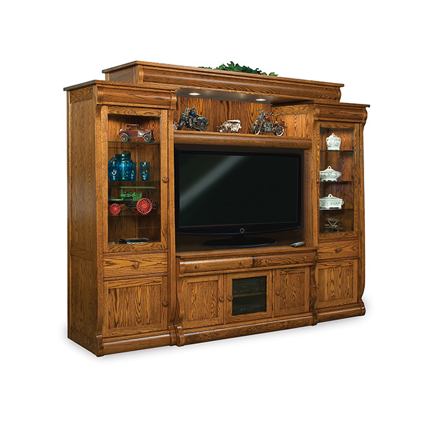 Amish Old Classic Sleigh 6pc Wall Unit | Amish Furniture | Shipshewana Furniture Co.