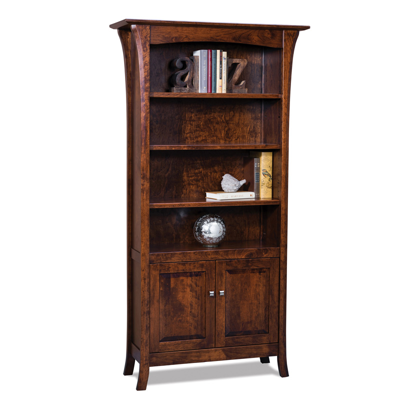 Ensenada 4 shelf, 2 door Bookcase