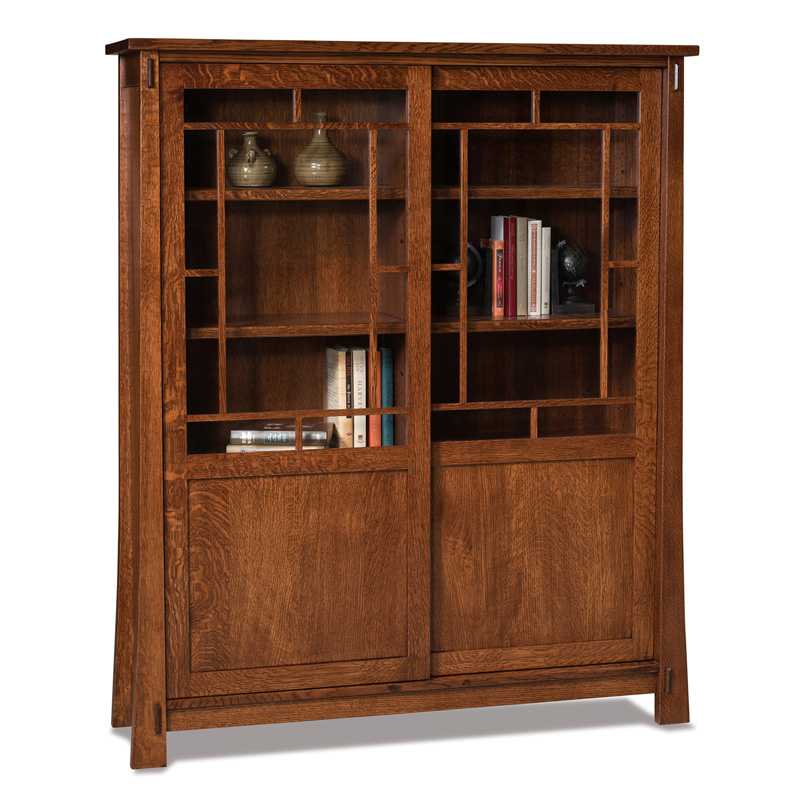 Modesto 8 Shelf, 2 Door Bookcase