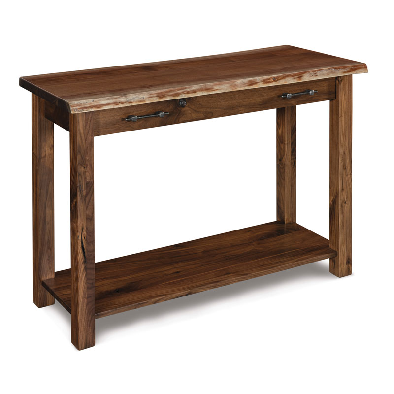 Timbra Open Sofa Table w/ Live Edge Top