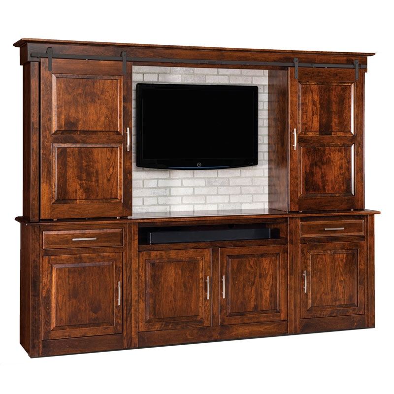Ensenada 6 Pc. Wall Unit w/ Barn Doors