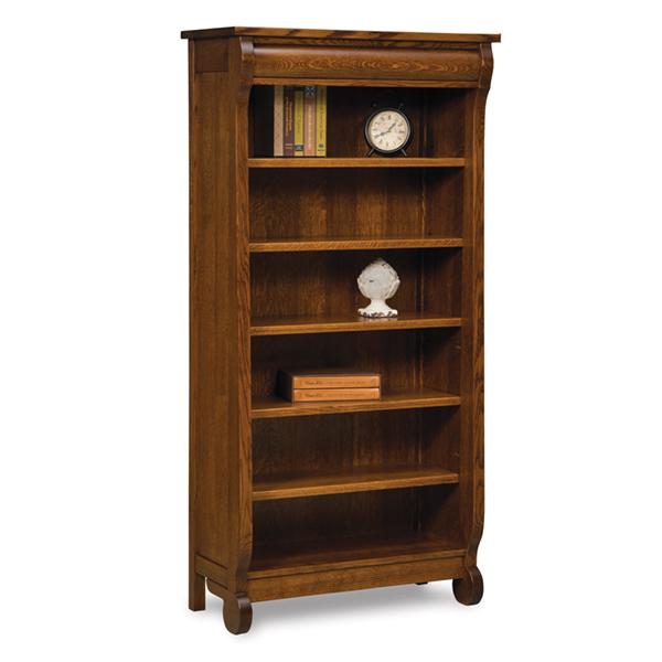 Amish Old Classic Sleigh Bookcase 6ft   Amish Furniture   Shipshewana  Furniture Co.
