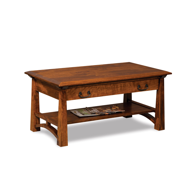 Amish Artesa Coffee Table with Drawer | Amish Furniture | Shipshewana Furniture Co.