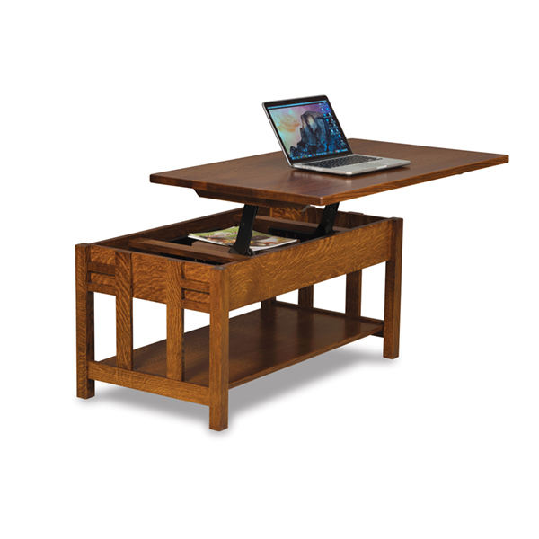 More Information Amish Kascade Open Lift Top Coffee Table Amish Furniture Shipshewana Furniture Co
