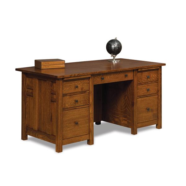 Kascade Desk 65 W Unfinished Back Shipshewana Furniture Co