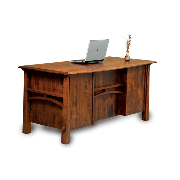 "Amish Artesa Desk 65""W - Finished Back 