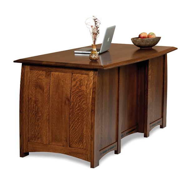 "Amish Boulder Creek Desk 65""W - Finished Back 