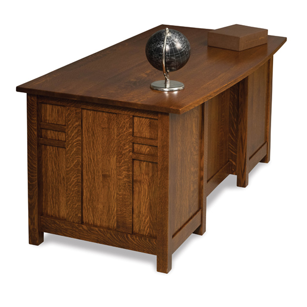 "Amish Kascade Desk 65""W - Finished Back 
