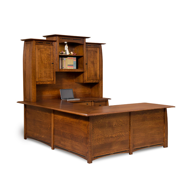 Amish Boulder Creek Wraparound 4-Piece Desk | Amish Furniture | Shipshewana Furniture Co.