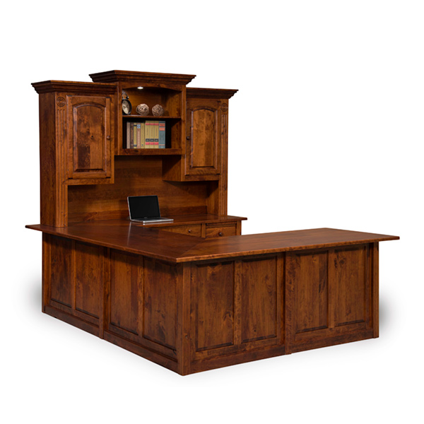 Amish Victorian Wraparound 4-Piece Desk | Amish Furniture | Shipshewana Furniture Co.