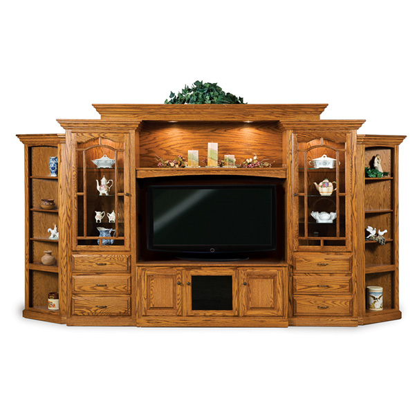 Amish Hoosier Heritage 8pc Wall Unit w/ Corner Sides | Amish Furniture | Shipshewana Furniture Co.