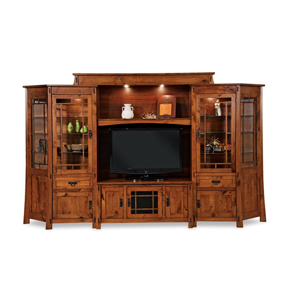 Amish Modesto 6pc Wall Unit w/ Angled Sides | Amish Furniture | Shipshewana Furniture Co.