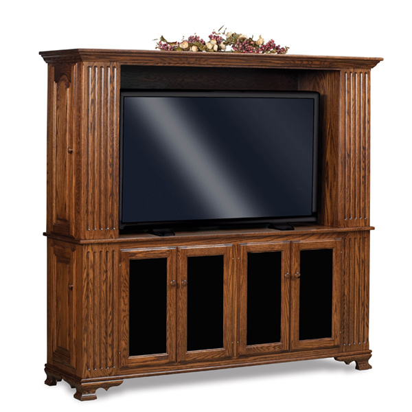 Amish Hoosier Heritage 2-Pc Entertainment Center | Amish Furniture | Shipshewana Furniture Co.