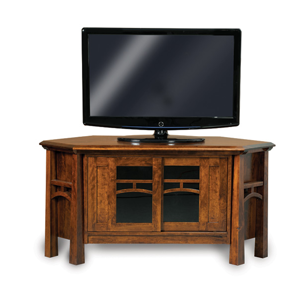 Amish Artesa Corner TV Stand | Amish Furniture | Shipshewana Furniture Co.
