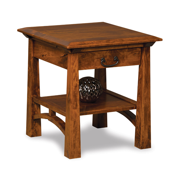 artesa end table with drawer
