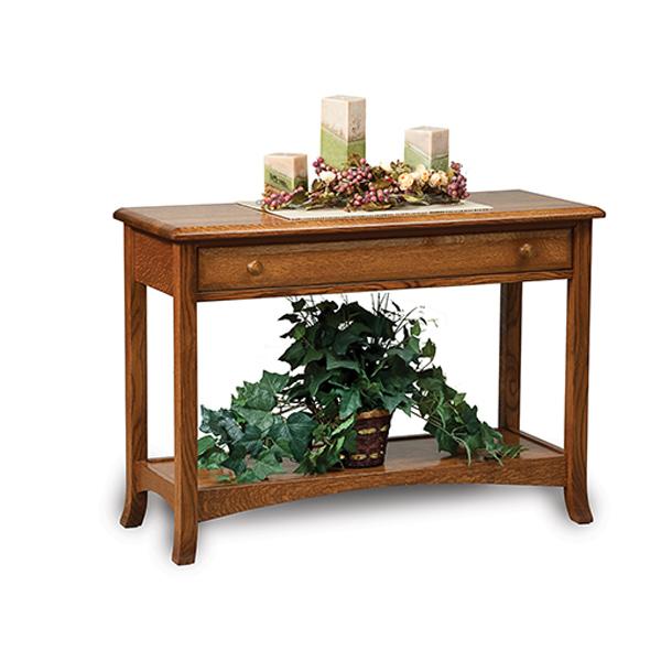More Information · Amish Carlisle Open Sofa Table | Amish Furniture |  Shipshewana Furniture Co.