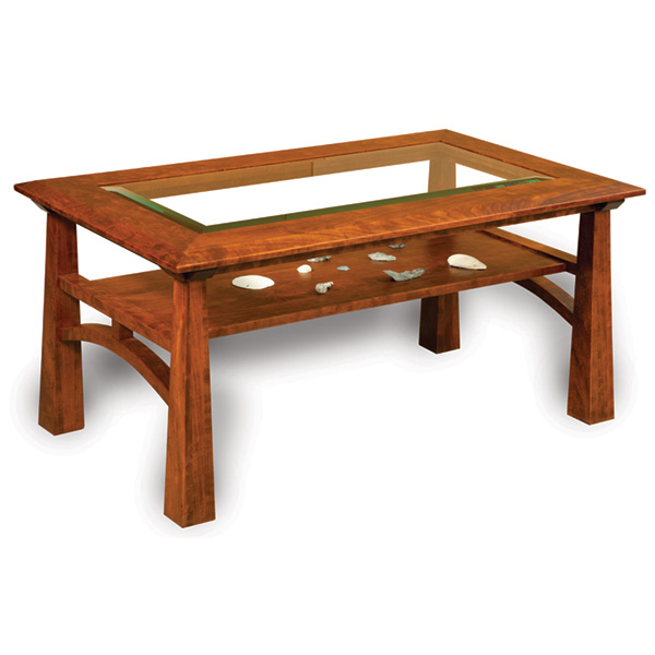Amish Artesa Glass-Top Coffee Table | Amish Furniture | Shipshewana Furniture Co.
