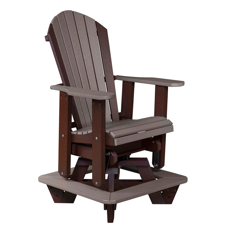 Adirondack Counter Height Swivel Glider