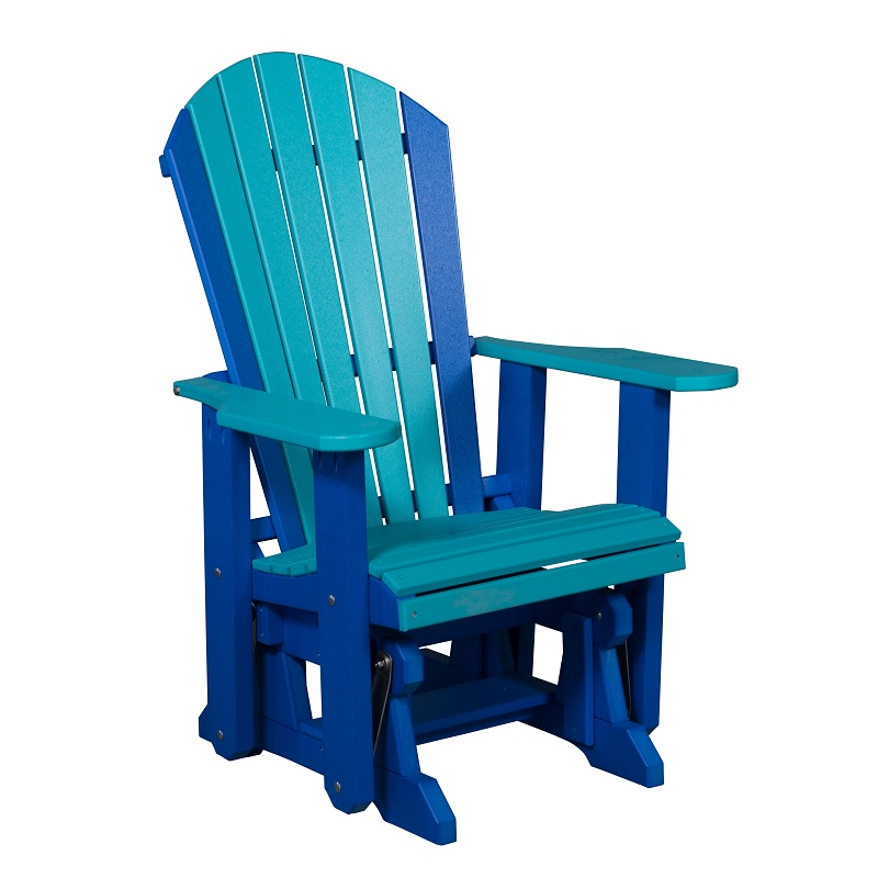 Amish Adirondack Glider - Cedar | Amish Furniture | Shipshewana Furniture Co.