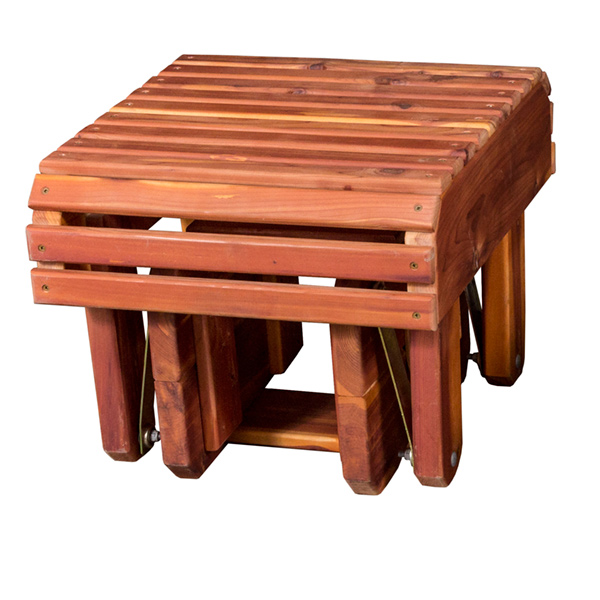 Amish Gliding Footstool - Cedar | Amish Furniture | Shipshewana Furniture Co.