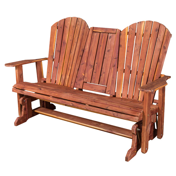 "Amish Adirondack Loveseat Glider 60"" Seat - Cedar 