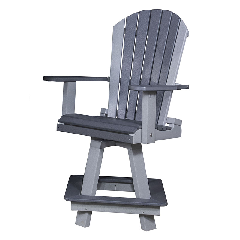 "Adirondack Swivel Bar Chair 30""H"