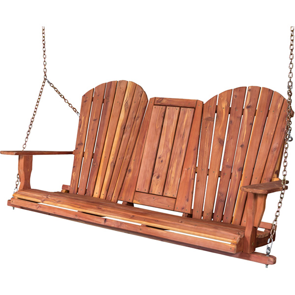 Amish Adirondack Porch Swing - Cedar | Amish Furniture | Shipshewana Furniture Co.