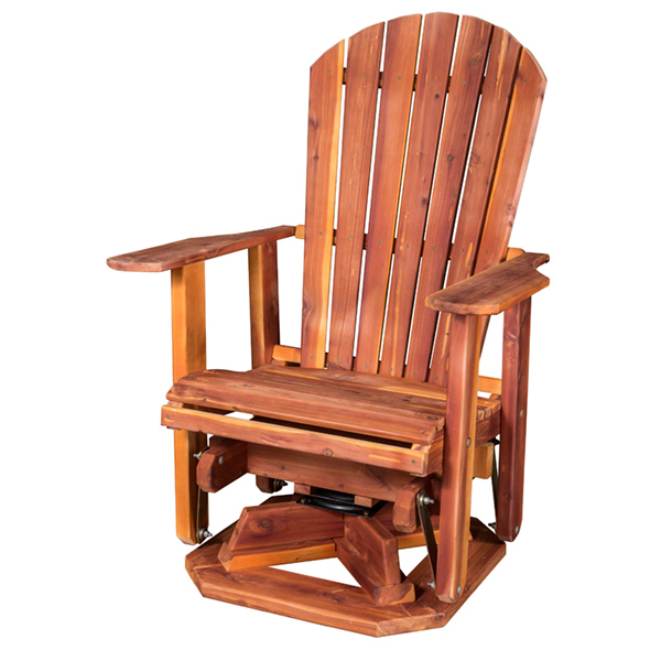 Amish Adirondack Swivel Glider - Cedar | Amish Furniture | Shipshewana Furniture Co.
