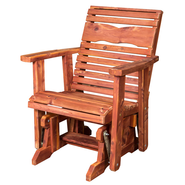 Amish Dove Back Glider - Cedar | Amish Furniture | Shipshewana Furniture Co.