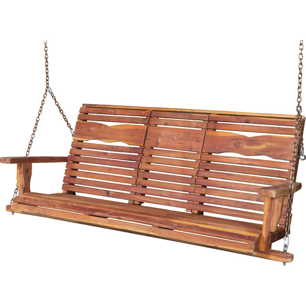 Amish Dove Back Porch Swing - Cedar | Amish Furniture | Shipshewana Furniture Co.