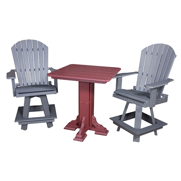 "Adirondack Swivel Bar Chair 24""H"