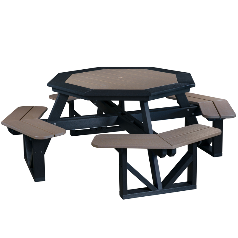 "Picnic Table, Octagon, 49.5""W Top"