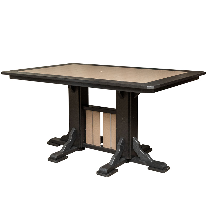 Rectangular Pedestal Table
