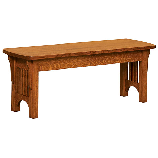 Craftsman Mission Bench Shipshewana Furniture Co