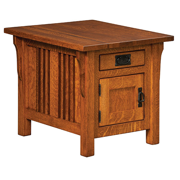 Elliot Mission Cabinet End Table
