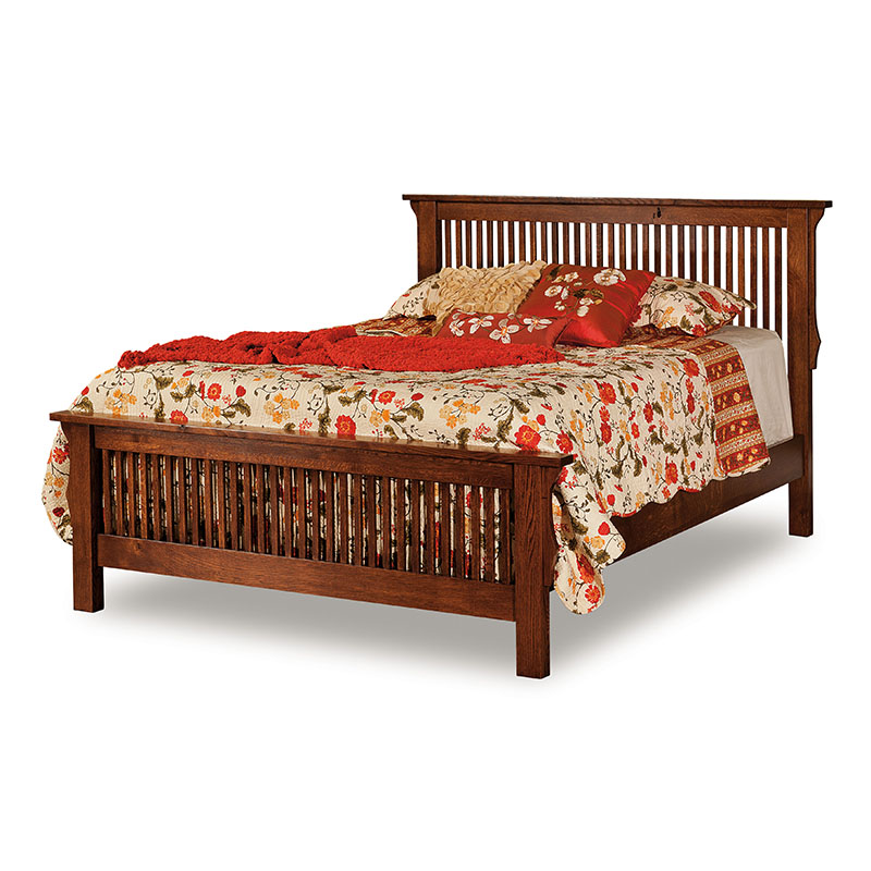 Stick Mission Bed with Low Footboard