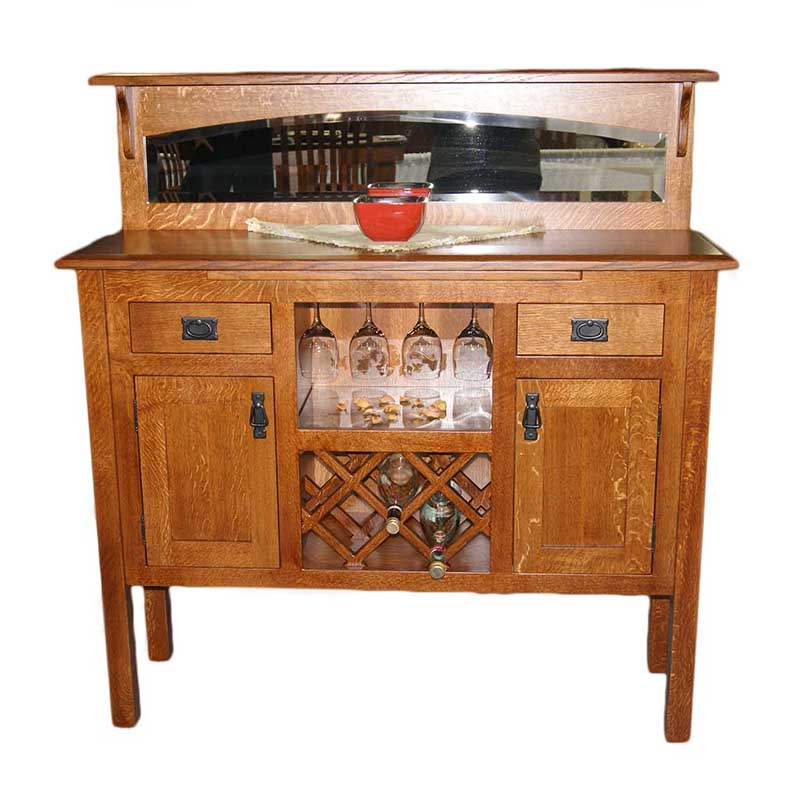 Linway Mission Sideboard with Wine Storage