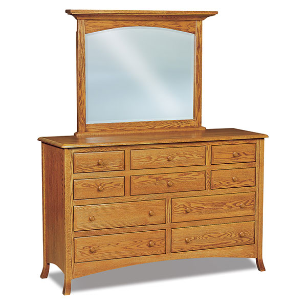 Amish Carlisle 10 Drawer Dresser | Amish Furniture | Shipshewana Furniture Co.