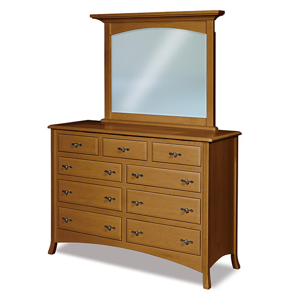 "Amish Carlisle 9 Drawer Dresser 59""W 