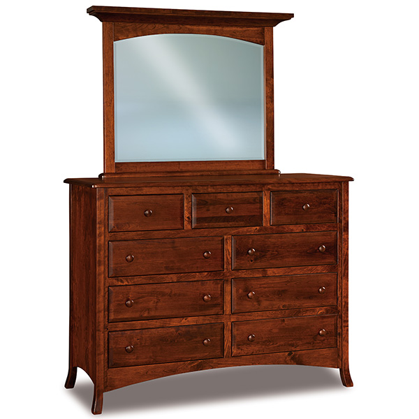 Amish Carlisle 9 Drawer Mule Dresser 59"