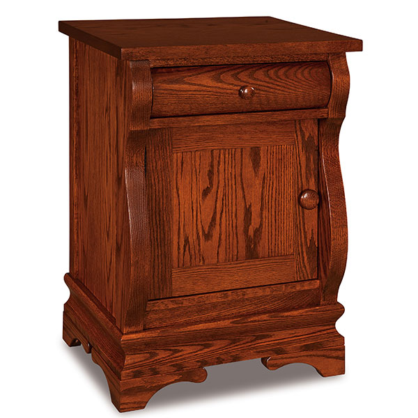 Chippewa Sleigh 1 Drawer 1 Door Nightstand