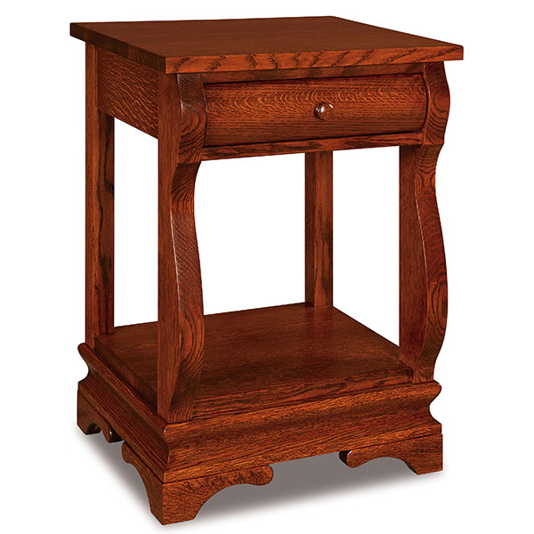 Chippewa Sleigh 1 Drawer Open Nightstand
