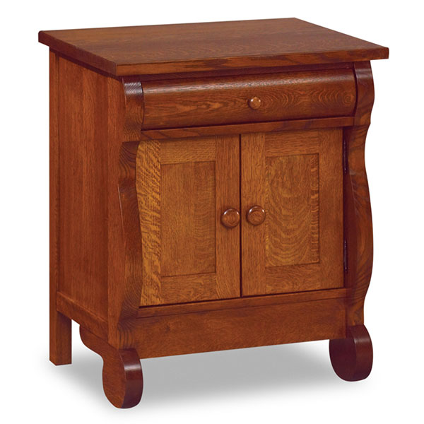 Old Classic Sleigh 1 Drawer, 2 Door Nightstand