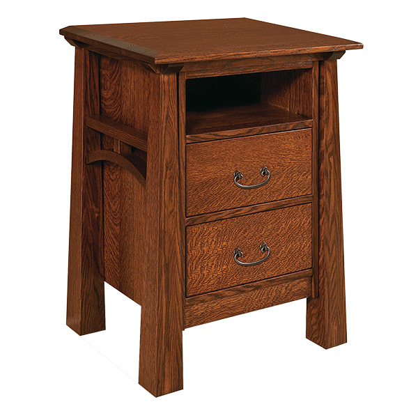 Amish Artesa 2 Drawer Taller Nightstand | Amish Furniture | Shipshewana Furniture Co.