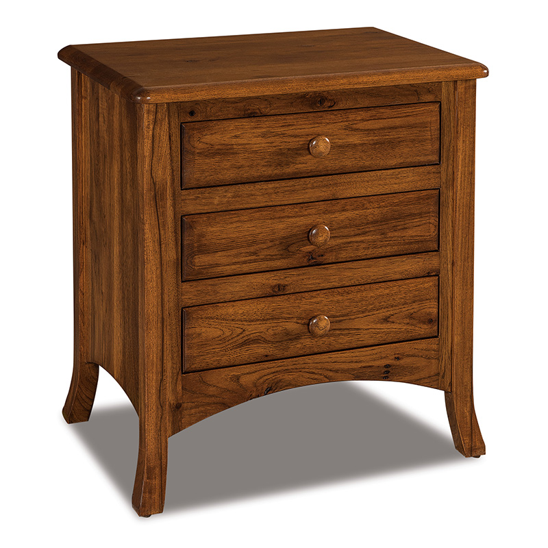 "Carlisle 3 Drawer Nightstand 28""H"