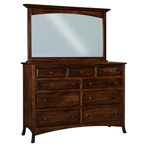 "Amish Carlisle 9 Drawer Dresser 66""W 